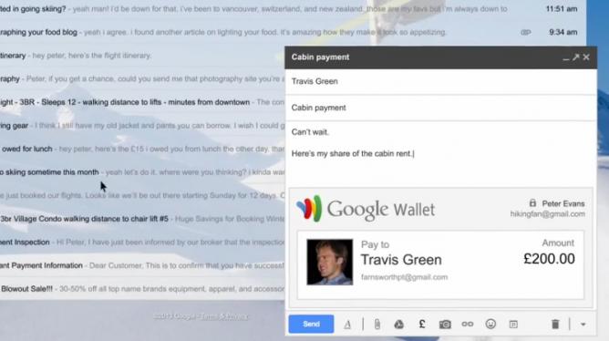 Pengguna Gmail Bisa Kirim Uang Melalui Email