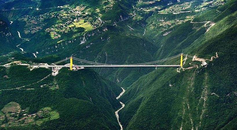 Jembatan Beipanjiang di China Menjadi Jembatan Tertinggi di Dunia