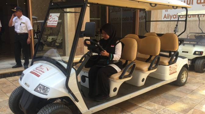 Hotel Aliyat Alsawi Sediakan Mobil Golf Untuk Bantu Antar Jemaah Haji Lansia