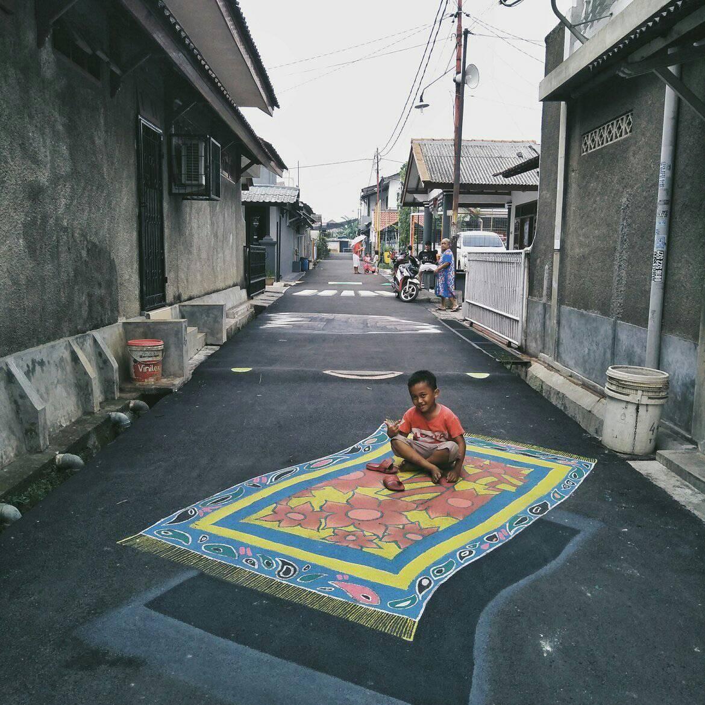 Kampung yang Ada di Depok Jadi Viral dengan Gambar 3Dnya !