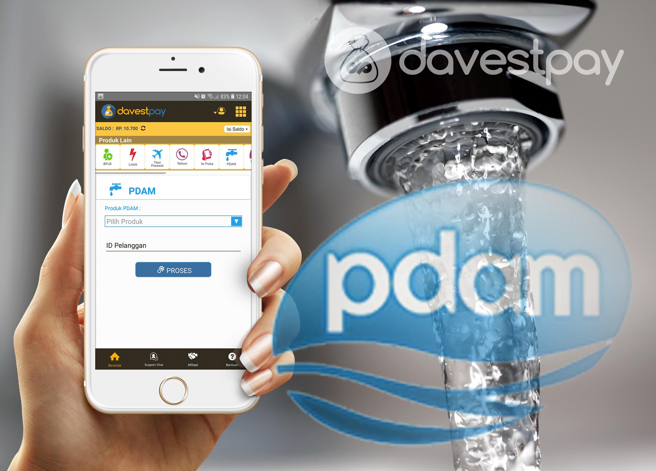 Kerjasama Dengan PDAM, DavestPay Bisa Bayar Tagihan Air Paling Lengkap